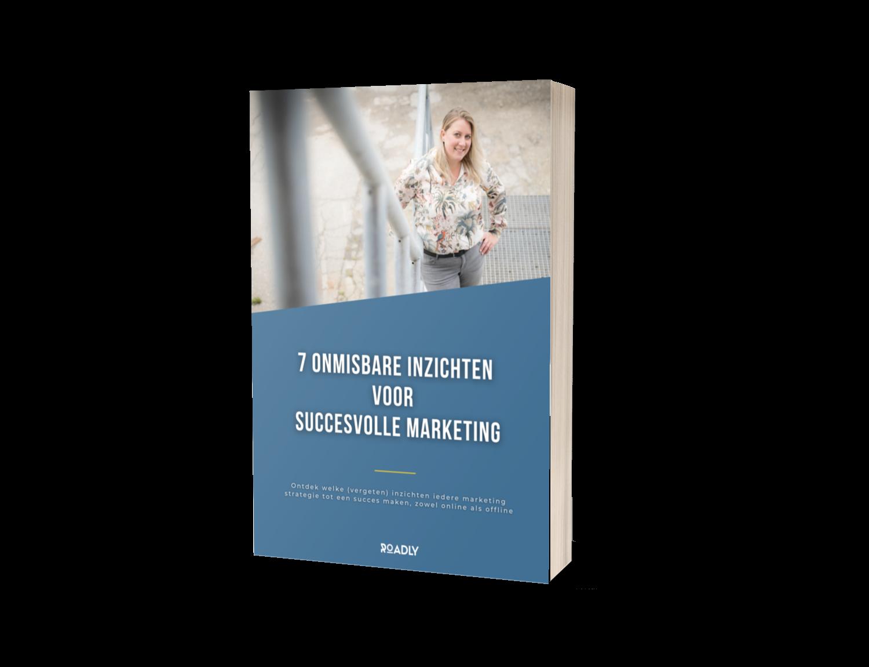 mockup boek 7 onmisbare inzichten voor succesvolle marketing