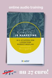 Online audio training Kickstart je Marketing